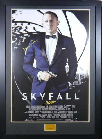 Skyfall signed and framed movie poster