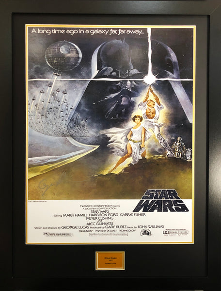 Starwars George Lucas Alternate Version Signed Movie Poster with COA