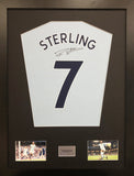 Raheem Sterling Manchester City Signed Shirt Display With COA