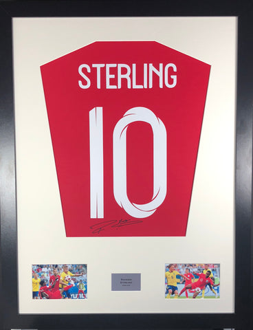 Raheem Sterling England World Cup Signed Shirt Display With COA - Kicking The Balls