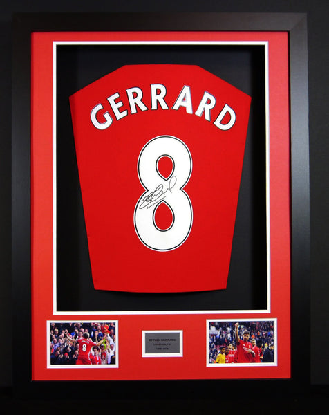 Steven Gerrard Liverpool Signed Shirt 3D Display with COA