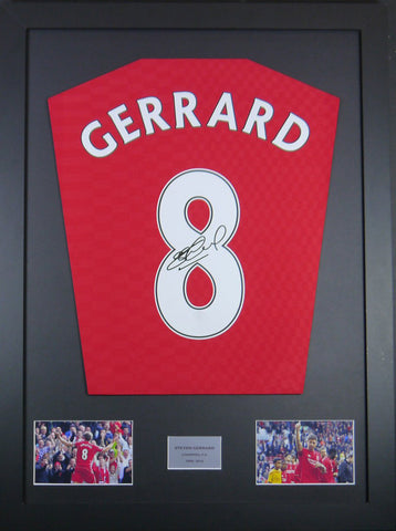 Steven Gerrard Signed Liverpool Shirt Display With COA - Kicking The Balls