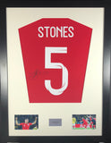 John Stones England World Cup Signed Shirt Display With COA - Kicking The Balls