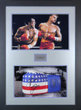 Sylvester Stallone Rocky Signed Boxing Glove 3D Display with COA - Kicking The Balls