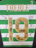 Celtic Treble Treble Team signed shirt display with COA - Kicking The Balls