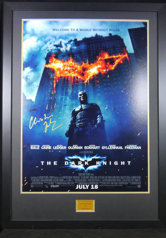 The Dark Knight Christian Bale signed movie poster with COA - Kicking The Balls
