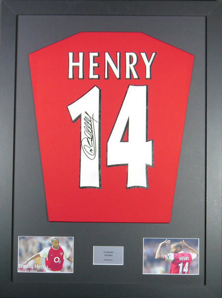 Thierry Henry Signed Arsenal Shirt Display With COA - Kicking The Balls