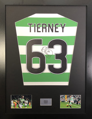 Kieran Tierney Celtic Signed Shirt Display With COA - Kicking The Balls
