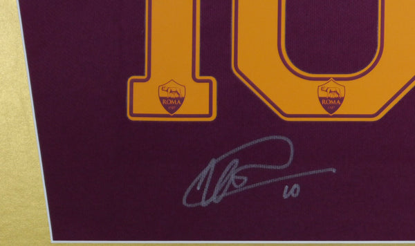 Totti Roma Signed Shirt Display With COA