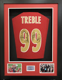 Treble 99 Manchester United Signed shirt 3D Display with COA