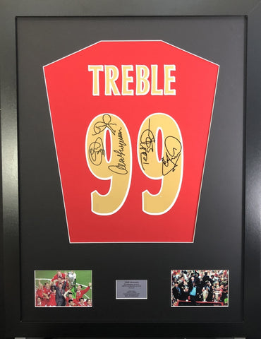 Treble 99 Manchester United Signed shirt Display with COA - Kicking The Balls