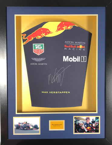 Max Verstappen 2018 Signed Shirt 3D Display with COA