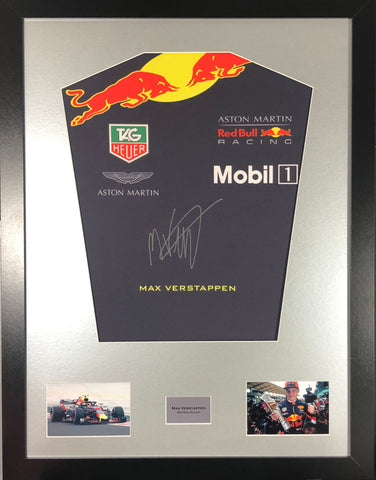 Max Verstappen Red Bull Formula 1 Signed Shirt Display with COA