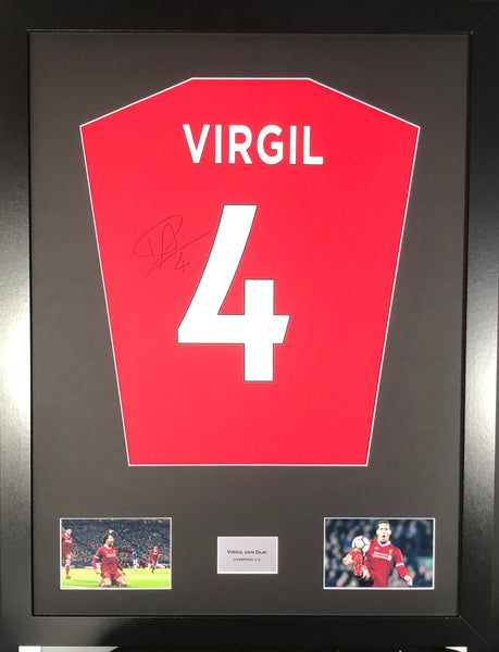 Virgil Signed Liverpool Shirt Display With COA