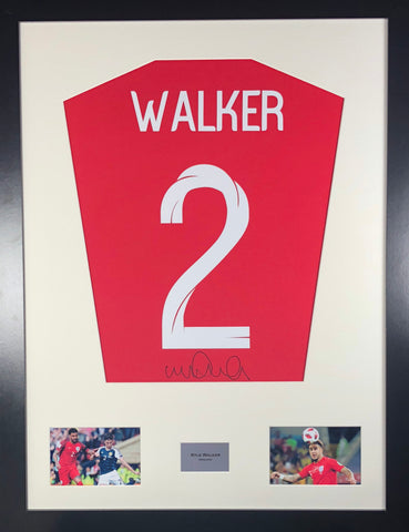 Kyle Walker England World Cup Signed Shirt Display With COA - Kicking The Balls