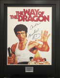 Bruce Lee and Chuck Norris, Way of the Dragon Signed Movie Poster with COA
