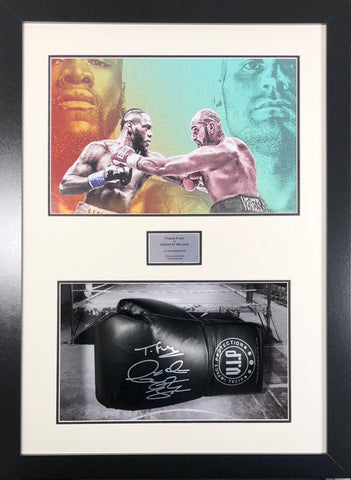 Fury and Wilder Signed Boxing Glove Limited Edition 3D Display with COA