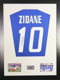 Zinedine Zidane Signed France Shirt Display With COA - Kicking The Balls