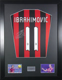 Zlatan Ibrahimovic AC Milan Signed Shirt Display With COA - Kicking The Balls