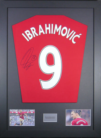 Zlatan Ibrahimovic Manchester United Signed Shirt Display With COA - Kicking The Balls