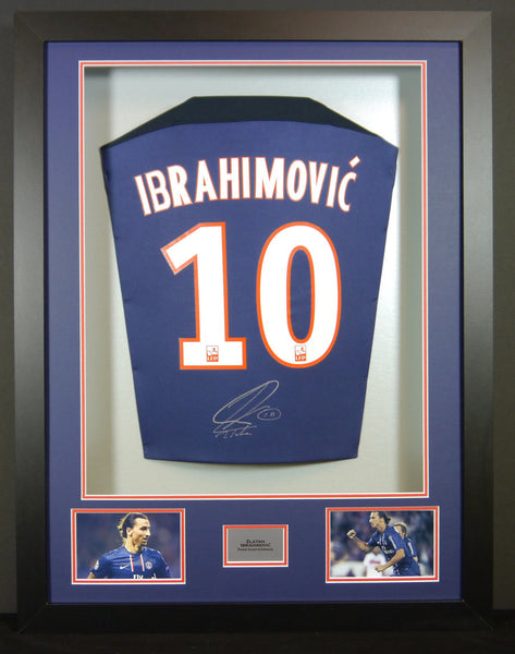 Zlatan Ibrahimovic PSG Signed Shirt 3D Display with COA - Kicking The Balls