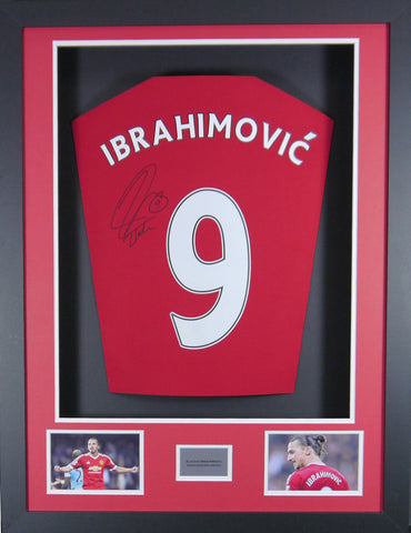 Zlatan Ibrahimovic Signed Manchester United Shirt 3D Display with COA