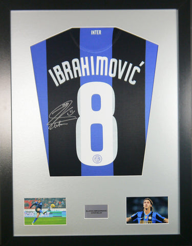 Zlatan Ibrahimovic Inter Milan Signed Shirt Display With COA - Kicking The Balls