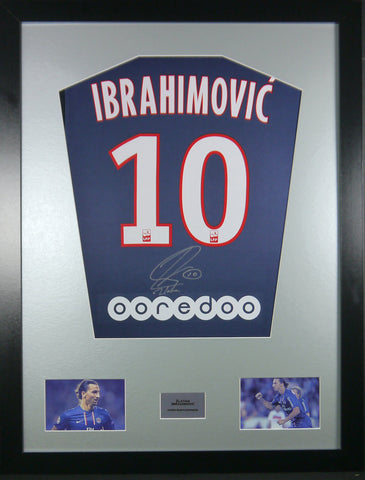 Zlatan Ibrahimovic PSG Signed Shirt Display With COA - Kicking The Balls