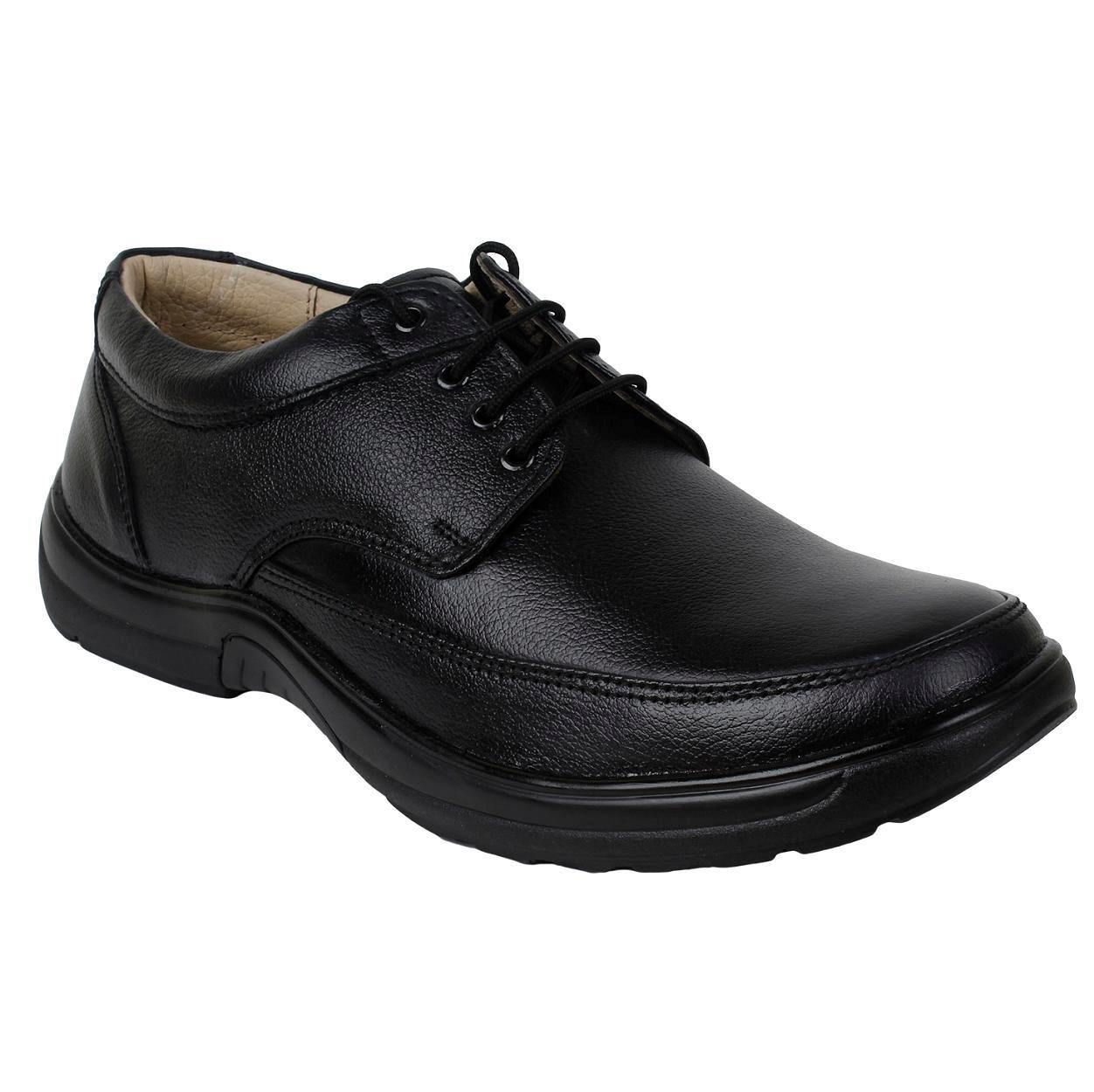 SeeandWear Formal Shoes For Men. Genuine Leather Black Office Wear Shoes.