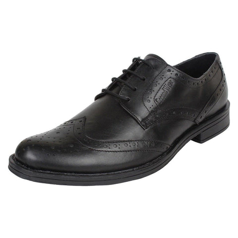 SeeandWear Brogue Shoes For Men. Branded Leather Black Lace Up Formal Shoes Online