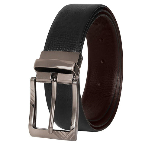 SeeandWear Genuine Leather Reversible Black and Brown Formal Belt (34MM Wide) - SeeandWear