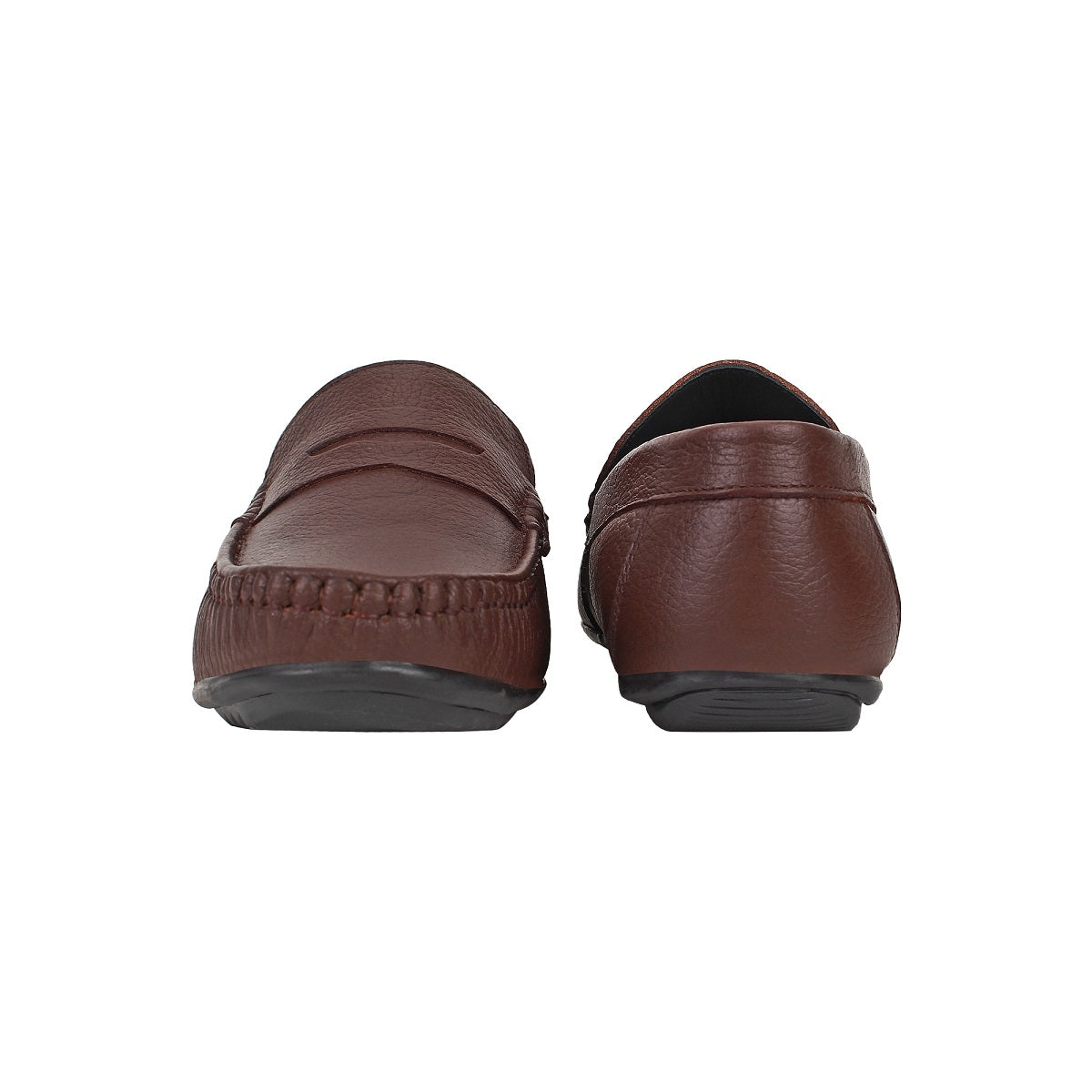 SeeandWear Brown Leather Loafers for Men