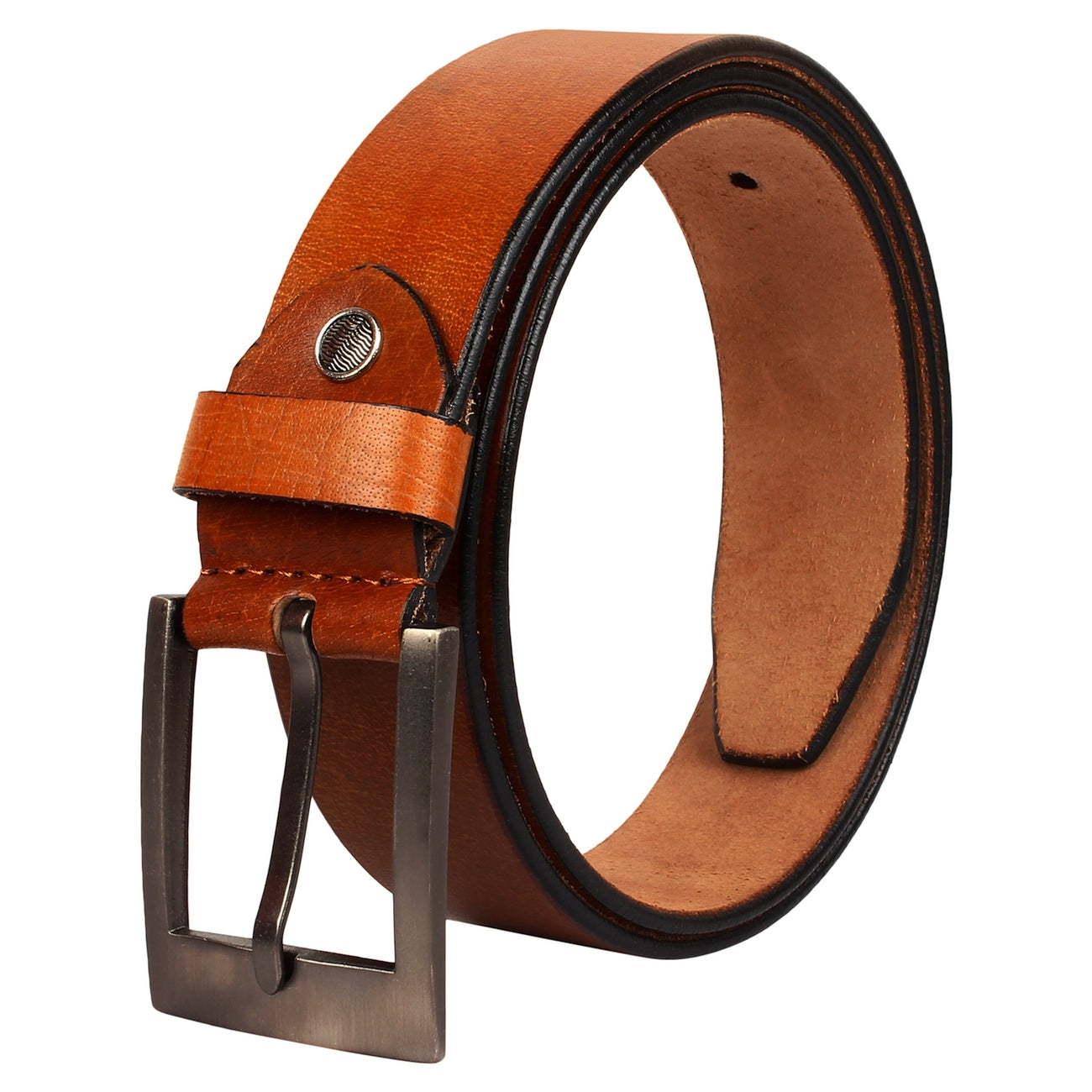 SeeandWear Genuine Leather Tan Color Formal Casual Belt For Men (35 MM Wide) - SeeandWear