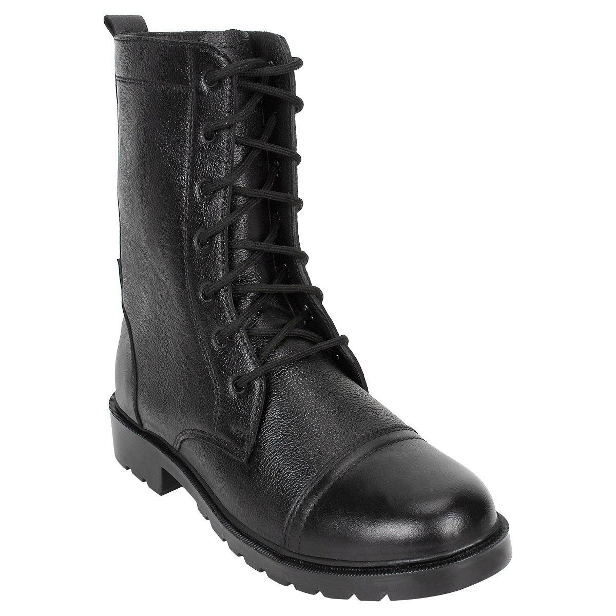 SeeandWear Leather Army Military Boots