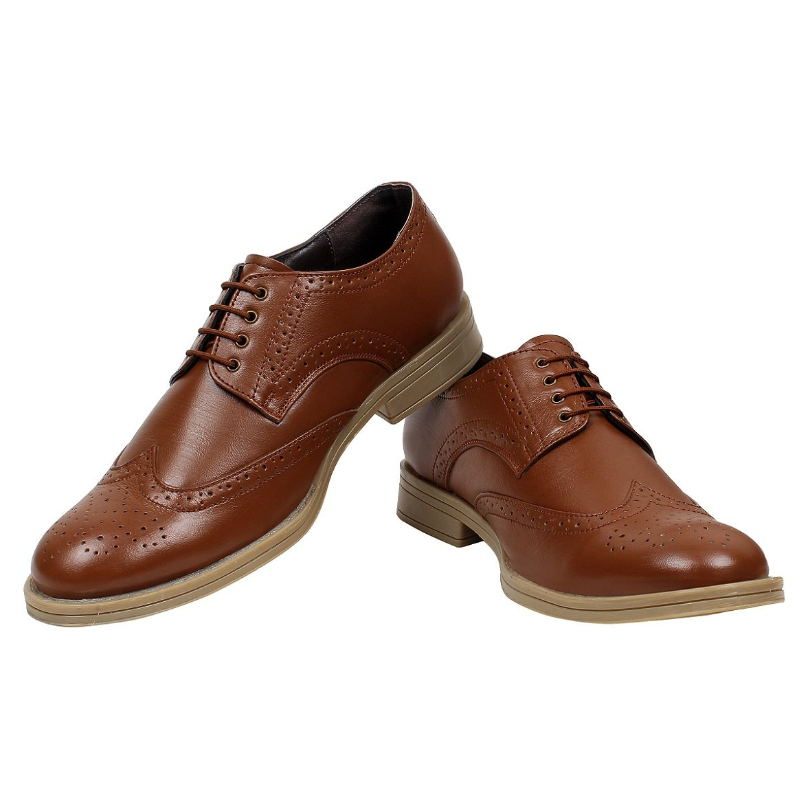 SeeandWear Tan Best Brogue Shoes For Men - SeeandWear