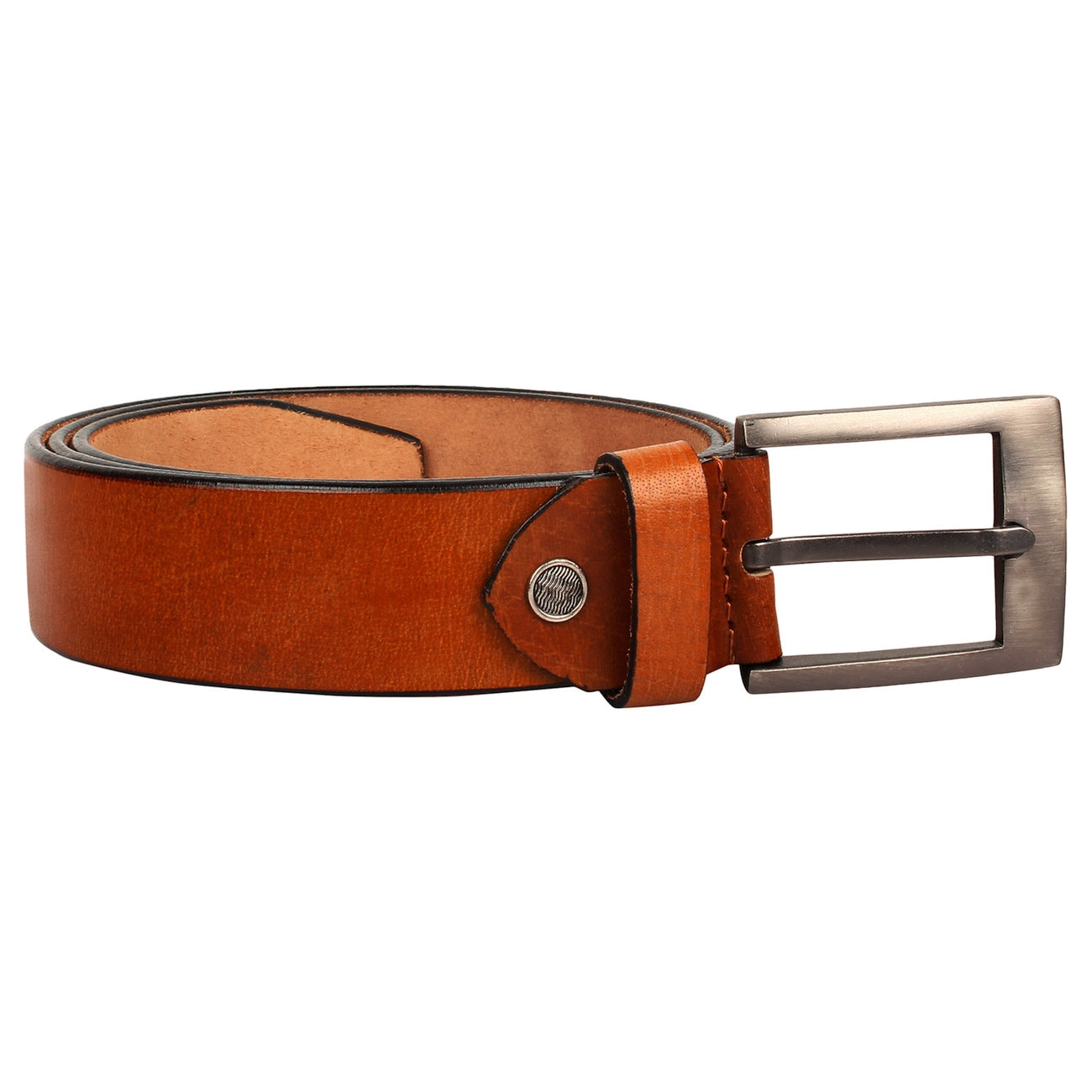 SeeandWear Genuine Leather Tan Color Formal Casual Belt For Men (35 MM Wide)