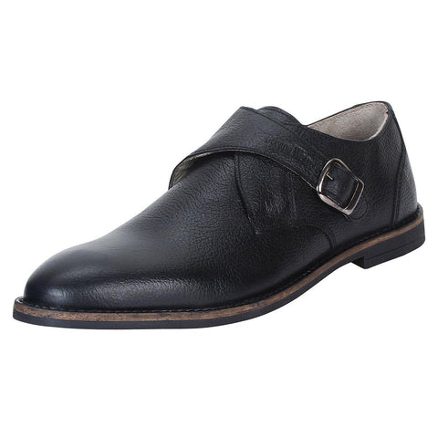 SeeandWear Black Monk Strap Shoes for Men - SeeandWear