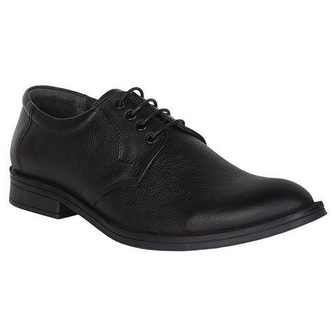 SeeandWear Genuine Leather Black Formal Shoes For Men - Minor Defect