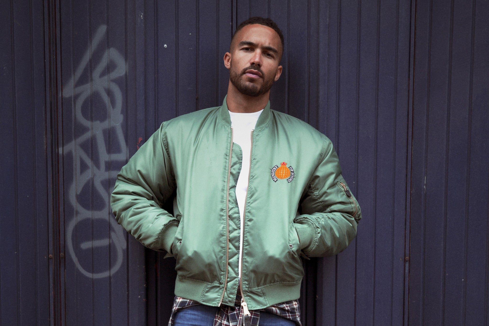 '91 Sage Bomber Jacket - Ministry of Sound Store