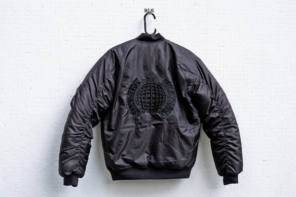 '91 Black on Black Bomber Jacket - Ministry of Sound Store