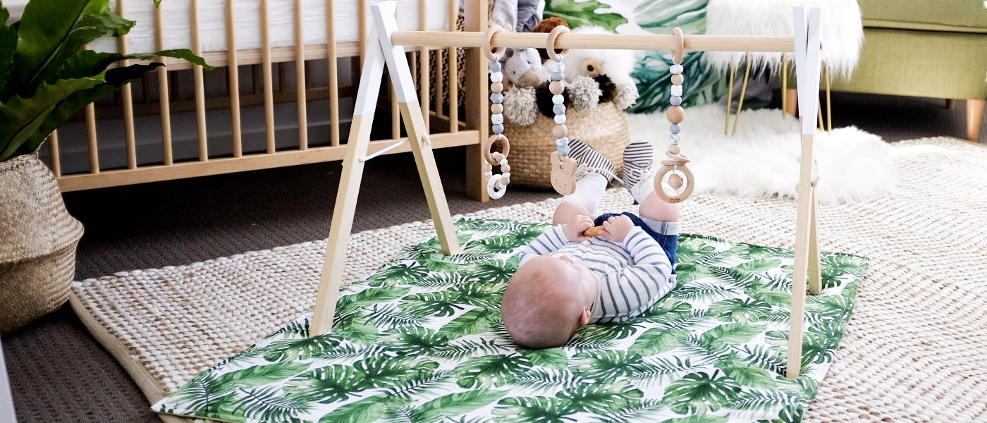 tropical baby play gym