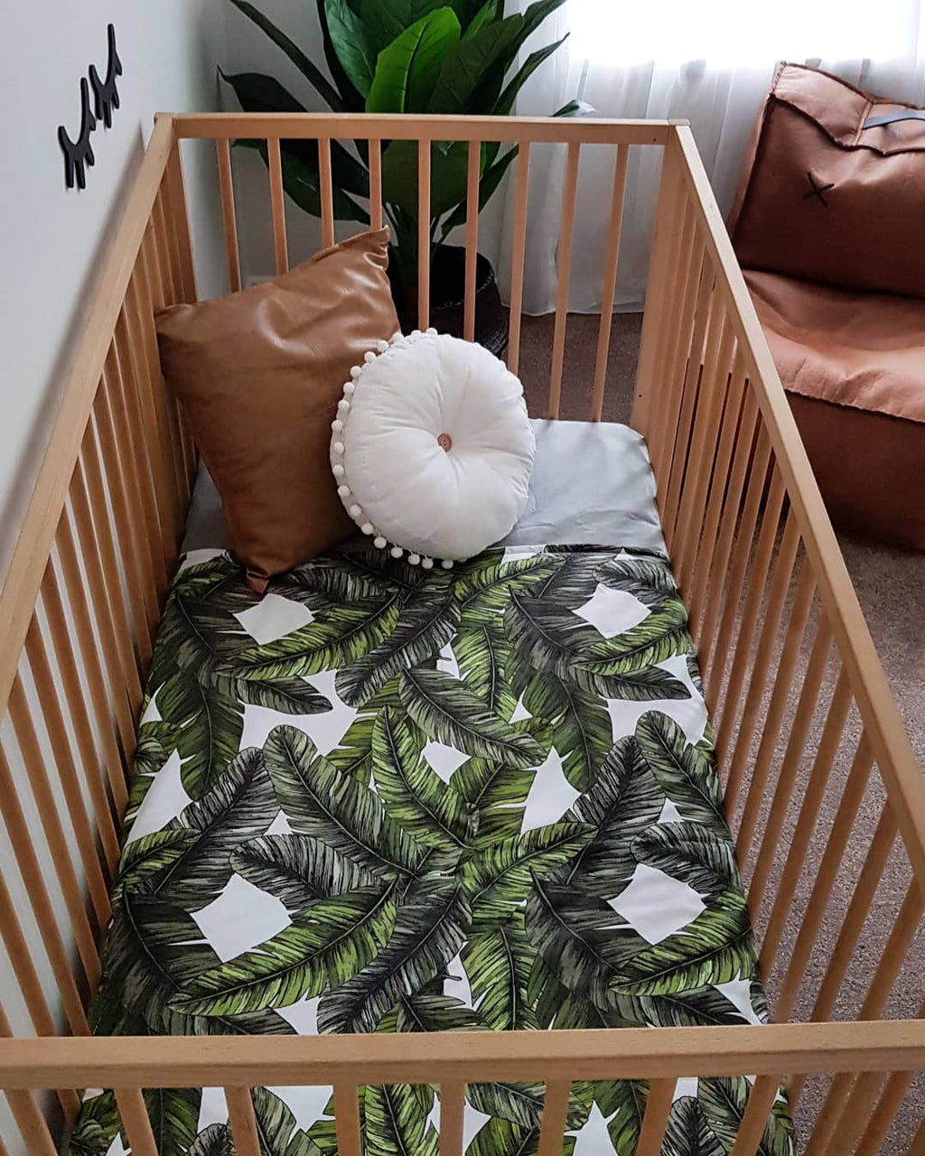 'Palm Leaf' Play Mat/Cot Quilt
