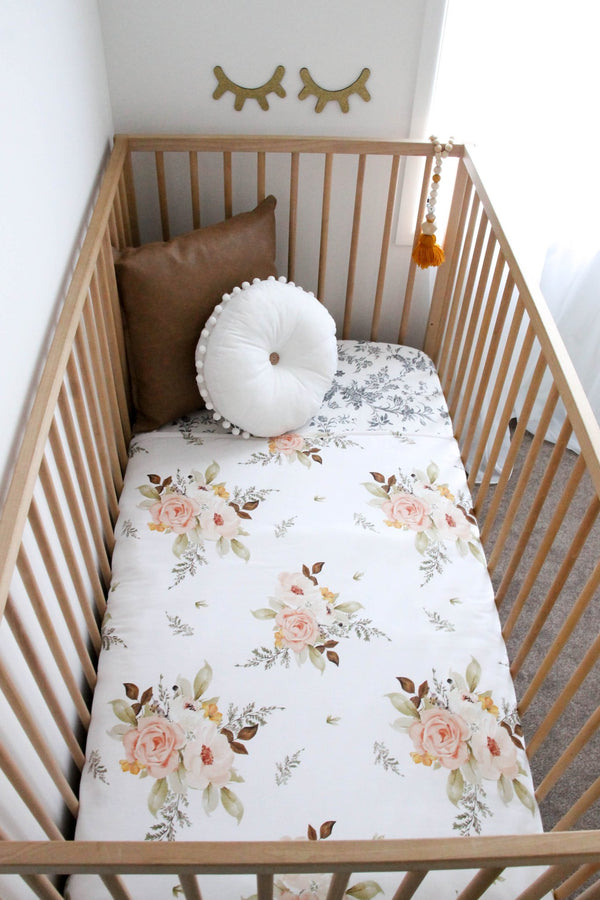 'Autumn Floral Play Mat/Cot Quilt