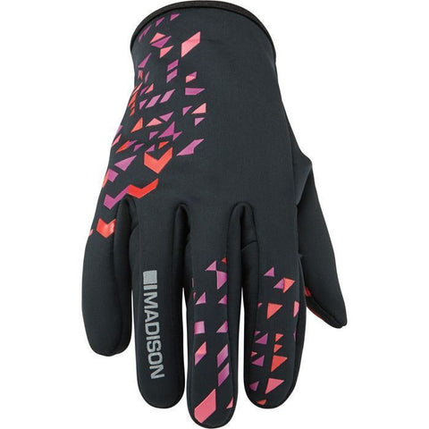 Madison Element Women's Softshell Gloves - Black/Chilli Red