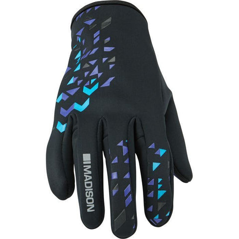 Madison Element Women's Softshell Gloves - Black / Purple Reign