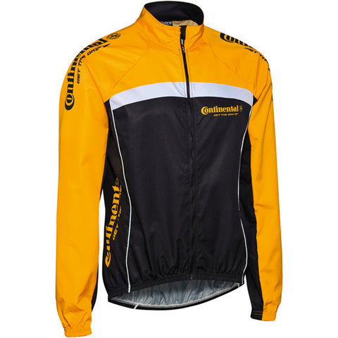 Continental Windbreaker Jacket - Black/Yellow