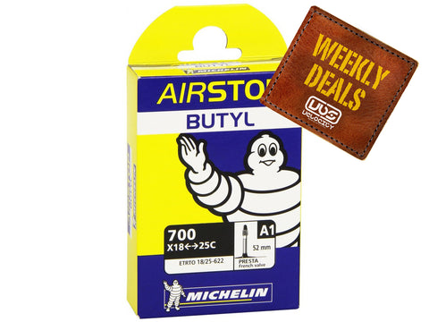 Michelin AirSTOP Inner Tube Presta 700c 18-25c 52mm Valve BULK BUY of 10 Tubes