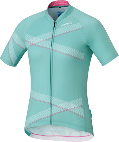 Women's, Shimano Team Jersey, Green/White