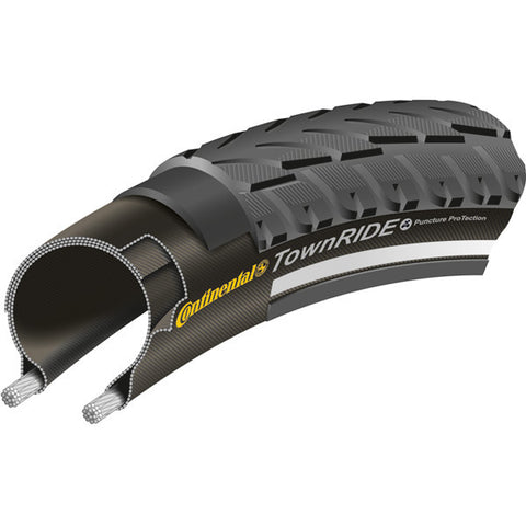 Continental Town Ride Reflex Tyre - Black