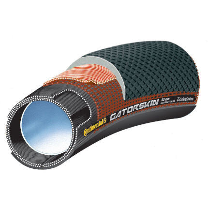 Continental Sprinter GatorSkin Tubular Tyre 28 inch x 22 mm - Black